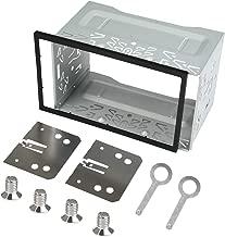 QLOUNI Double Din Installation Kit, Universal Double DIN Installation Cage Kit Slot Metal Car Stereo Radio Mounting Frame for Passat/MK3/Jetta Panel Frame
