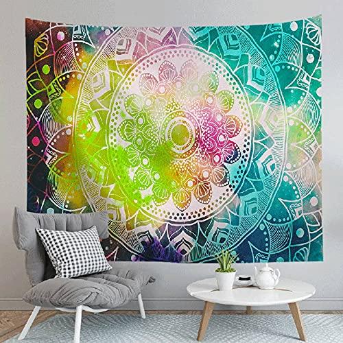 Tapiz de mandala psicodélico para colgar en la pared tapiz colorido hippie bohemio tapiz psicodélico manta A1 180x200cm