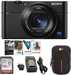Sony DSC-RX100M5 Cyber-shot Digital Camera w/ 128GB Memordy Card Bundle