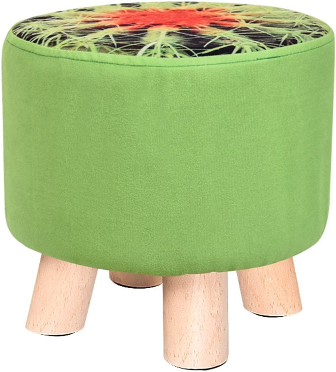 Living room sofa stool   Solid wood shoes bench Fabric fruit stool  Home coffee table stool Multifunctional footstool  Bed stool Solid wood stools  Creative shoe bench   Stool 2928cm -by TIANTA ( color   G )