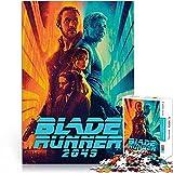 Puzzle 1000 Piezas Blade Runner 2049 Póster de película Rompecabezas para Adultos Ciencia ficción Acción Película Desafío Rompecabezas de Papel 26x38cm Juego Infantil para aliviar el estrés