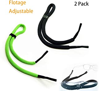 2 Packs Glasses Straps for Sports Adjustable Water Sports Safety Holder Floating Retainer Strap Light Swimming Surfing Water Park Glasses Straps