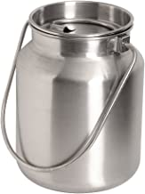 stainless pail with lid