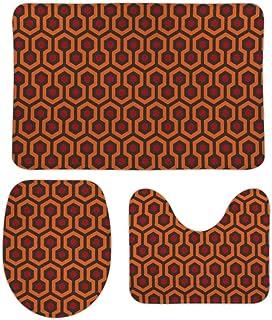 シャイニングオーバールックホテル 柔らかい 快適な 3ピースバスルームマットセット バスマット+台座マット+トイレシートマット トイレマット セット 洗面所 滑り止め 抗菌 洗濯可能 ホーム装飾