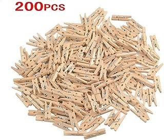 GCA DIY Wooden Pins for Scrapbooking Wood Crafts, Mini Clothespins 200 Per Pack 1