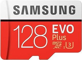 Samsung Micro SDXC 128GB EVO Plus /w Adapter UHS-1 SDR104, Class 10, Grade 1 (U3), Up to 100MB/s read, 60MB/s Write, 10 Ye...