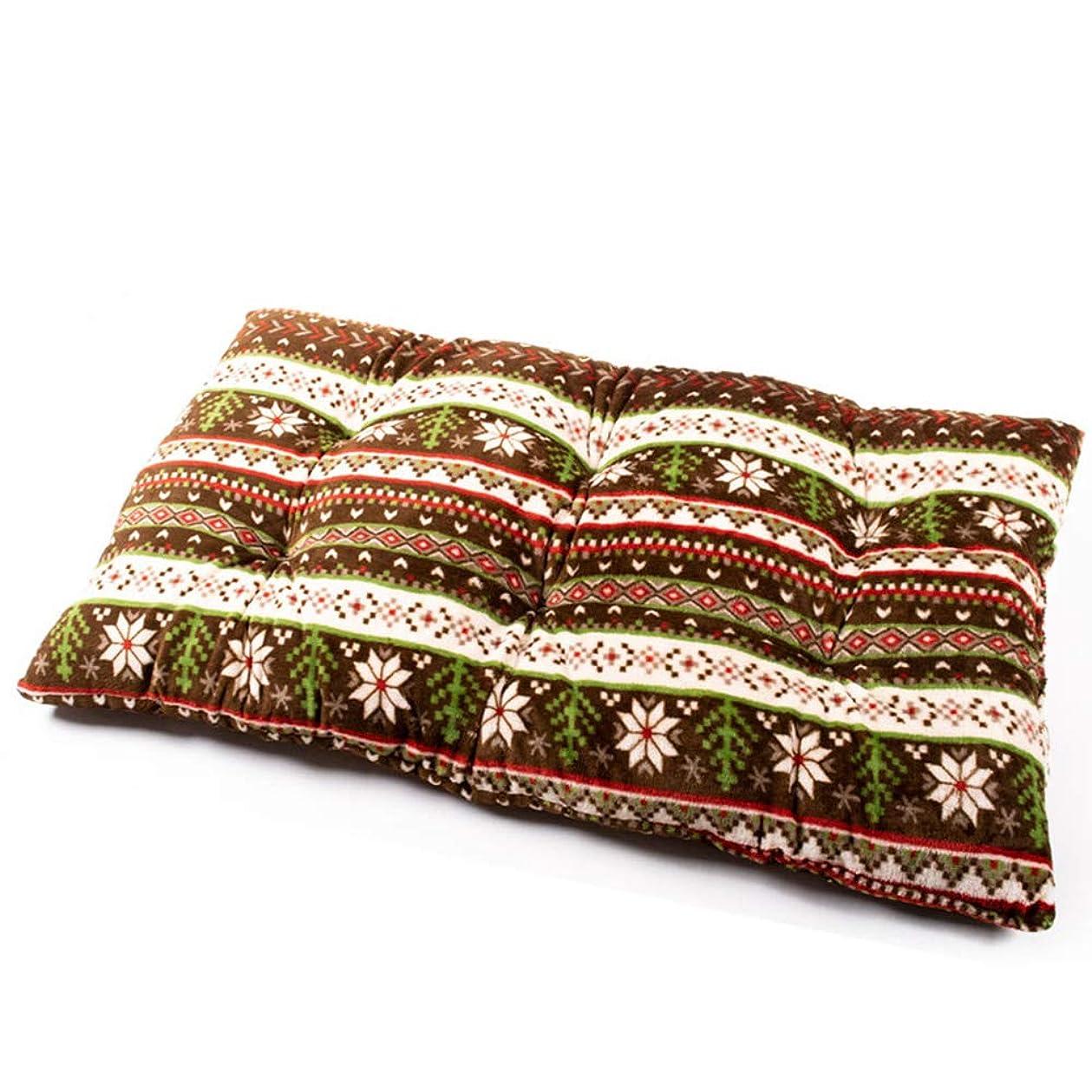 ラショナル枕例示するあったか ロングクッション かわいい「fucca」 スノー ブラウン 長座布団 フランネル 冬 ごろ寝 フロアクッション 68×120cm