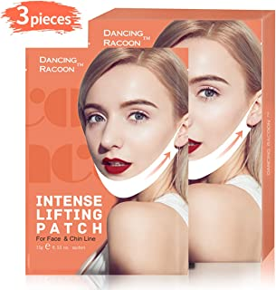 Pack of 3, Double Chin Reducer V Line Chin Up Intense Lifting Mask, Chin Strap, Chin Mask, Face Lift, Neckline Slimmer, Moisturizing and Firming