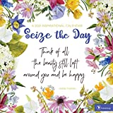 TF PUBLISHING 2021 Seize the Day Monthly Wall Calendar - Floral - Appointment Tracker - Contacts and Notes - Home or Office Planning - Matte 12'x12'