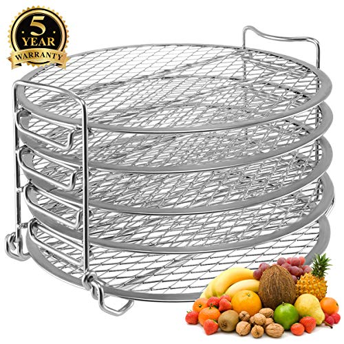 Read About Dehydrator Stand for Ninja Foodi Accessories, Dehydrator Rack with Five Stackable Layers ...