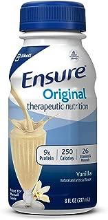 Ensure Original Vanilla Flavor 8 oz. Bottle Ready to Use, 58297 - ONE Bottle