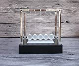 URToys Light Up Newtons Cradle Steel Balance Ball Kinetic Energy Multi Color Home Office Science Toy Household Decoration Art Work Gift