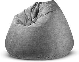 كرسي استرخاء باغزو كارو كبير جداً ومريح بلون رمادي