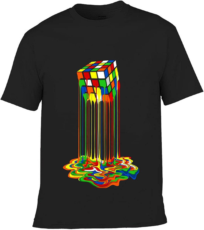 Clu Melting Cube Image Pure Rainbow Kids Boys T-Shirt Funny Tee