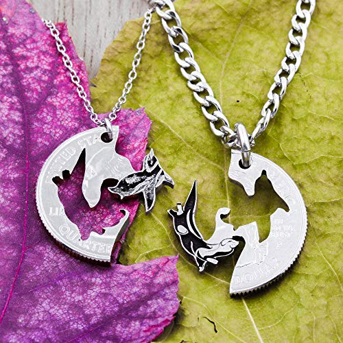 6 Piece Arrow Necklaces Real Silver Dollar Arrows and Silhouettes Family or Best Friends Necklaces