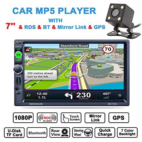 Benwei 17,8 cm 2 DIN Bluetooth Auto multimédia stéréo de voiture lecteur MP5 GPS Navigation AM/FM/RDS radio support Miroir Link/AUX IN avec caméra de recul
