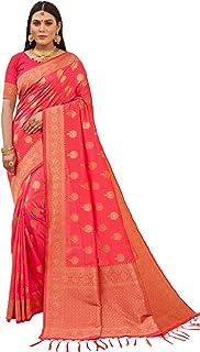 فستان هندي للسيدات من تصميم Peach Designer مصنوع من حرير بناراسي مصنوع من قماش الحرير مع قطعة بلوزة صناعية للحفلات 6203