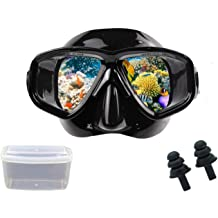 DIPUKI Snorkeling Gear for Adults Snorkel Set Includes Diving mask,Dry Snorkel,fins ,for Snorkeling ,Scuba Diving,Swimming,Free Dive