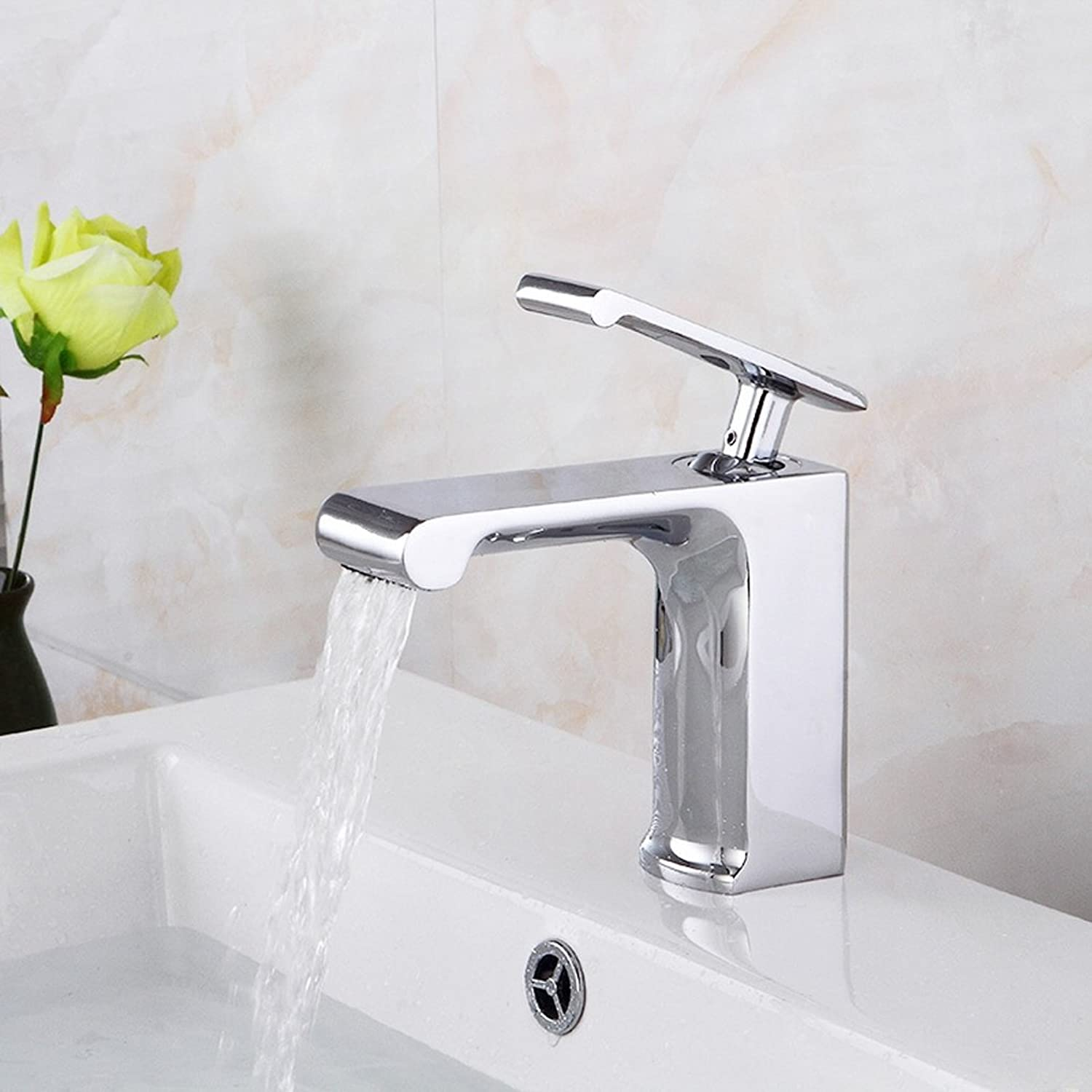 Bathroom Sink Faucet In Modern Style Single Handle Waterfall Bathroom Sink Faucet