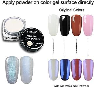 Elite99 Mermaid Nail Powder Gradient Shimmer Glitter Uv Gel Manicure Nail Art Pigment Decoration 04 Bluepurple