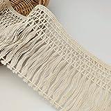 FQTANJU 4,5 m x 10 cm breite Fransen aus Baumwolle in