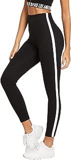 Leggings for Women Workout Yoga Leggings High Waist Striped Side Jogger Pants