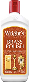 Wright`s Brass and Copper Polish and Cleaner - 8 Ounce - Gently Cleans and Removes Tarnish Without Scratching