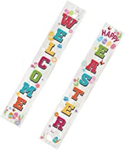 KESYOO 1 Pair Easter Porch Sign Welcome Easter Hanging Banners Easter Couplets for Outdoor Indoor Porch Decorations Easter...