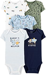 Kit Body Carter's Manga Curta 5 Peças Helper Bebê Menino (12M)