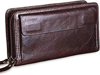 Men's Clutch, Purse, Men's Small Bag, Business Men's Genuine Leather Wallet, Coin Purse, Card Case, 22cm*12cm*4.5cm (Color...