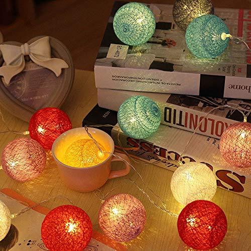 ELINKUME LED String Light 20LEDs Lantern Balls 3.3M RGB Fairy Lights Battery Powered Ideal Decoration for Interior/ Balcony/ Party/ Wedding/ Holiday