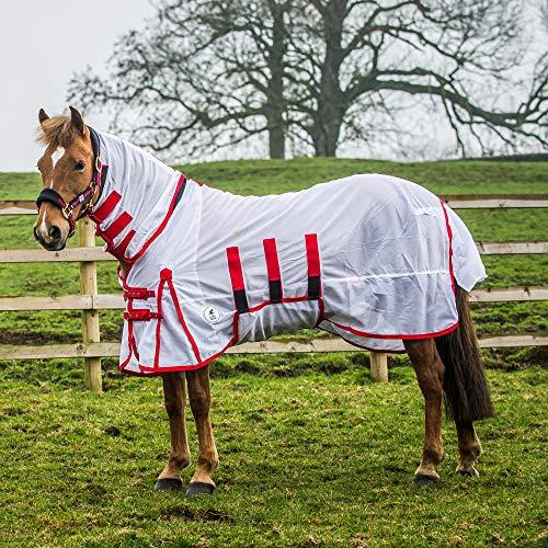 Derby House telo classico anti-mosca per cavalli, White
