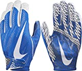 Nike Adult Vapor Knit 2 Receiver Gloves 2017, Lightweight and Flexible Youth Sports Gloves(Royal/White/ X-Large)
