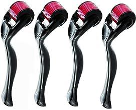 Derma Roller Kit, 4Pack - (0.25mm/0.5mm/1mm/1.5mm) 540 Titanium Micro needles | Skin & Face Care | Massage Tools Professional
