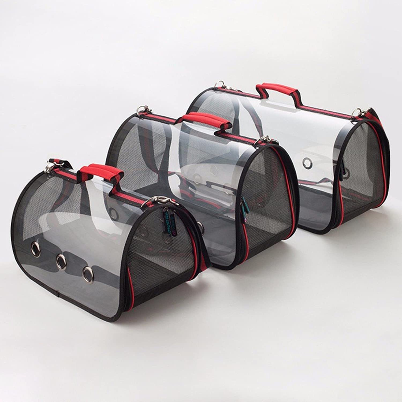 Pet Products _2018 portable transparent pet bag cat dog shoulder bag pet out of the bag portable backpack pet novel and practical,01,s (35  22  19)