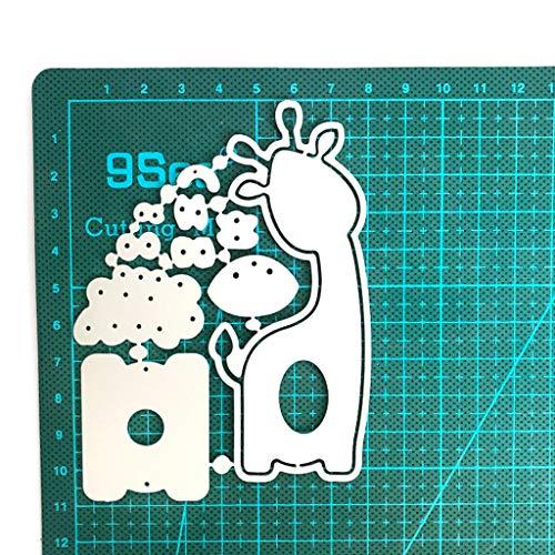 UYT Ostermesser Form Mit Ei Giraffe, Ostern Giraffe Metallschneidwerkzeuge Schablone Scrapbooking DIY Album Stempel Papierkarte Prägung Dekoration Handwerk, Ostern Giraffe Stirbt Schablone