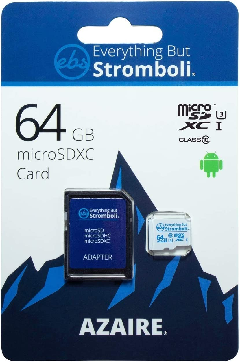 Everything But Stromboli Azaire 64GB MicroSD Class 10 SDXC Memory Card for Samsung Phone Works with Galaxy Note 20 Ultra 5G, A42 5G, A21, A21s U3 UHS-1