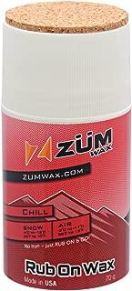 ZUMWax RUB ON Wax Ski/Snowboard - CHILL Temperature - 70 Gram - Incredibly Fast!!!
