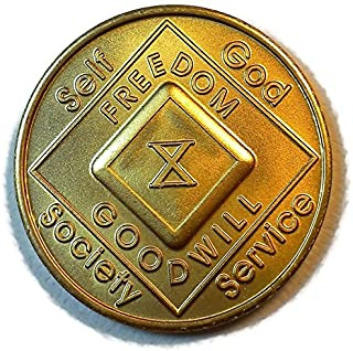 NA Coins - Narcotics Anonymous Medallions 1 Thru 20 Year - Birthday Anniversary Recovery Gift. Also Available: 18 Month an...
