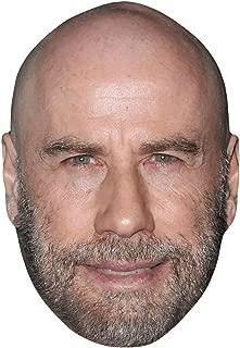 Celebrity Cutouts John Travolta (Beard) Big Head. Larger Than Life mask.