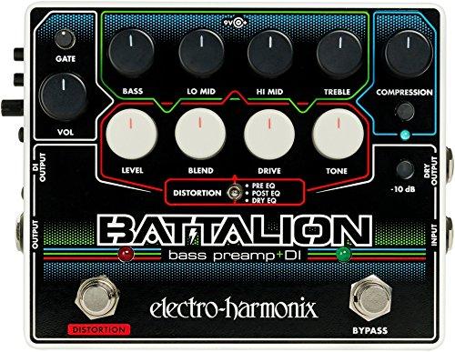 Electro Harmonix Battalion Bass Preamp & DI Bass Guitar Effects Pedal