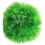 NEL 1pc Acuario Artificial Verde Hierba Bola Plantas Agua Tanque Decoración Musgo Bola Paisaje Decoración, Diámetro 12CM