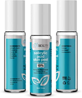 SALICYLIC Acid 10% Chemical Peel with Beta Hydroxy BHA For Rosacea, Acne, Oily Skin, Blackheads, Whiteheads, Clogged Pores...