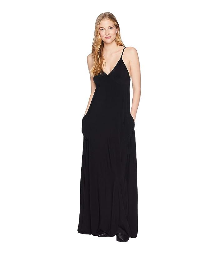 KAMALIKULTURE by Norma Kamali Slip A-Line Long Dress (Black) Women