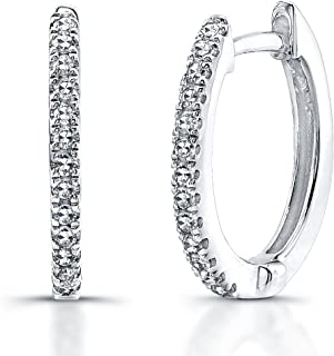 478092084 Victoria Kay 1/8ct White Diamond Hoop Earrings in Sterling Silver