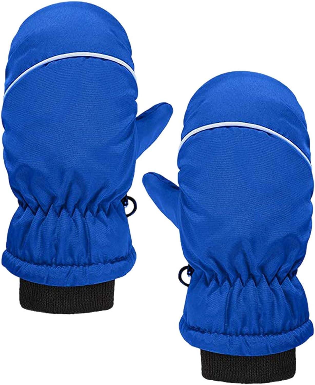 HTDBKDBK 4 Pairs Kids Ski Mittens Waterproof Snow Gloves Winter Soft Warm Mittens for Outdoor Activities