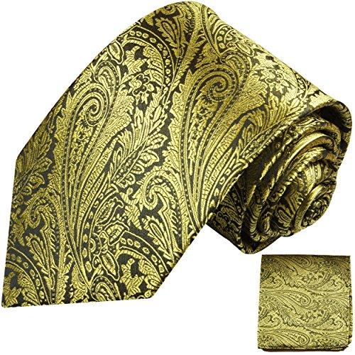 Cravate homme or noir ensemble de cravate 2 Pièces ( longueur 165cm )