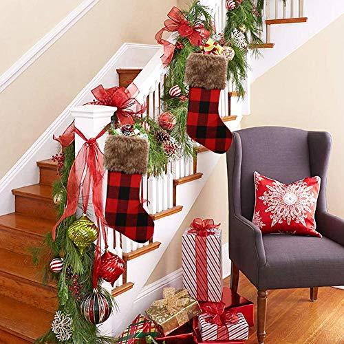 Brownrolly kerstkousdecoratie, kerstsneeuwman hangende sokken kerstboom hangende sokken kerstdecoratie feest cadeau Classic