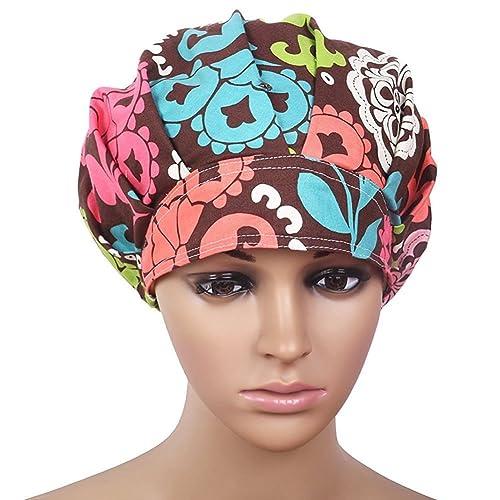 ddd7059a07e Doctor Classic Scrub Hat Adjustable Sweatband Bouffant Cap for Women  Ponytail