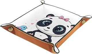 Vockgeng Dessin animé, Panda, Oiseau Boîte de Rangement Panier Organisateur de Bureau Plateau décoratif approprié pour Bur...